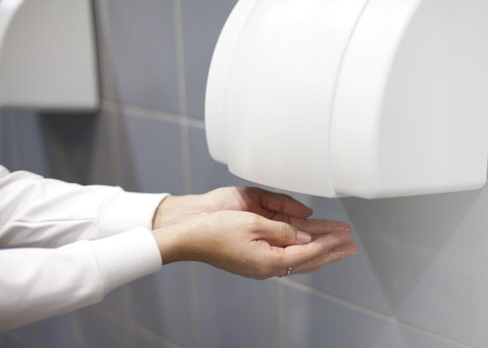 Hand dryer work