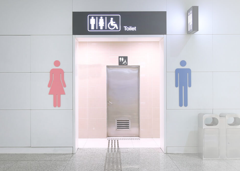 Toilet rental supplies male female